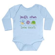 Laugh Often Long Sleeve Infant Bodysuit
