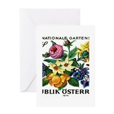 Vintage 1974 Austria Garden Show Floral Stamp Gree