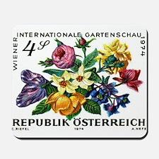 Vintage 1974 Austria Garden Show Floral Stamp Mous