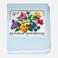 Vintage 1974 Austria Garden Show Floral Stamp baby