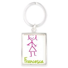 Francesca-cute-stick-girl.png Portrait Keychain