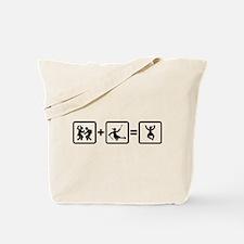 Challenged Sled Hockey Tote Bag