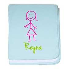 Reyna-cute-stick-girl.png baby blanket