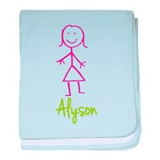 Alyson-cute-stick-girl.png baby blanket