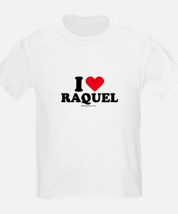 I love Raquel Kids T-Shirt