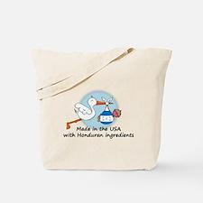 Stork Baby Honduras USA Tote Bag
