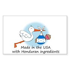 Stork Baby Honduras USA Decal
