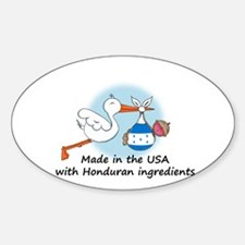 Stork Baby Honduras USA Decal