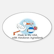 Stork Baby Honduras USA Sticker (Oval)