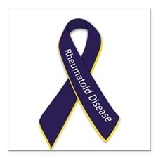 "Awareness Ribbon Square Car Magnet 3"" x 3"""
