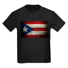 hard woking puerto rican flag T