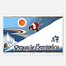 1994 Austria Skier Postage Stamp Postcards (Packag