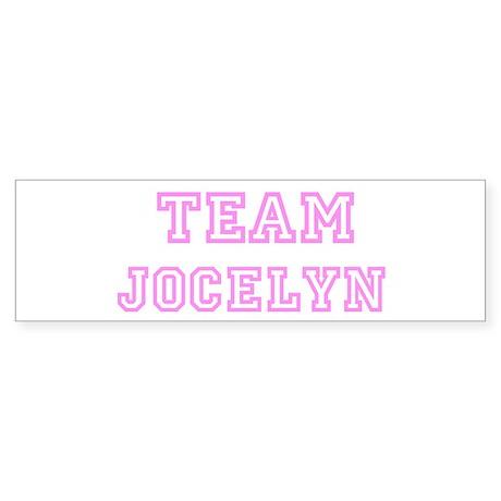 Pink team Jocelyn Bumper Sticker