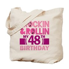 48th Birthday rock and roll Tote Bag