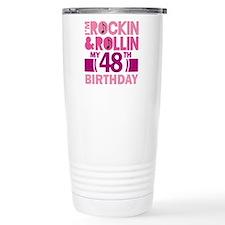 48th Birthday rock and roll Travel Mug