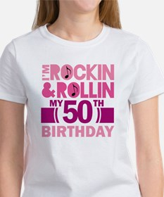 50th Birthday rock and roll Women's T-Shirt