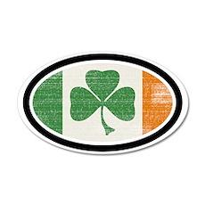 St Patrick's day 22x14 Oval Wall Peel