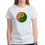 Orange and Green Women's T-Shirt