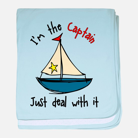 I'm The Captain baby blanket