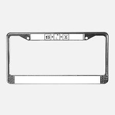 Kiteboarding License Plate Frame