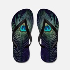 Royal Purple Peacock Flip Flops