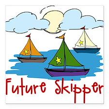 """Future Skipper Square Car Magnet 3"""" x 3"""""""