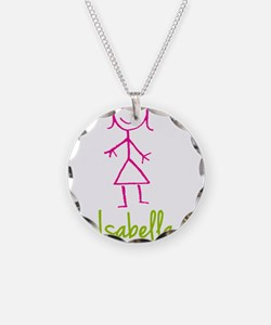 Isabella-cute-stick-girl.png Necklace Circle Charm