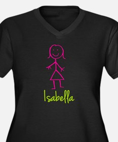 Isabella-cute-stick-girl.png Women's Plus Size V-N