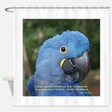 Hyacinth Macaw JM Csaky Shower Curtain