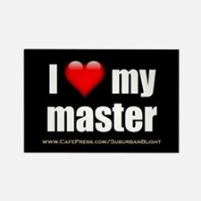 """""""Love My Master"""" Rectangle Magnet"""