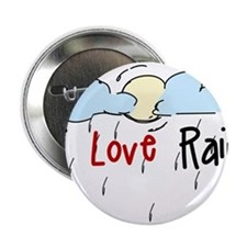 "I Love Rain 2.25"" Button"