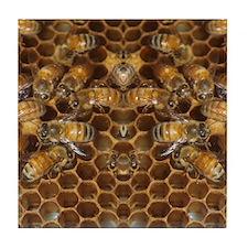 Honey Bees Tile Coaster