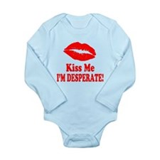 Kiss Me Long Sleeve Infant Bodysuit
