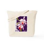 Vintage China Cattleya Orchid Stamp Tote Bag