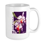 Vintage China Cattleya Orchid Stamp Large Mug