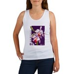 Vintage China Cattleya Orchid Stamp Women's Tank T