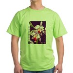 Vintage China Cattleya Orchid Stamp Green T-Shirt