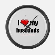 """Love My Husbands"" Large Wall Clock"
