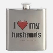 """Love My Husbands"" Flask"