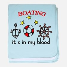 Boating baby blanket
