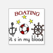 "Boating Square Sticker 3"" x 3"""