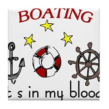 Boating Tile Coaster