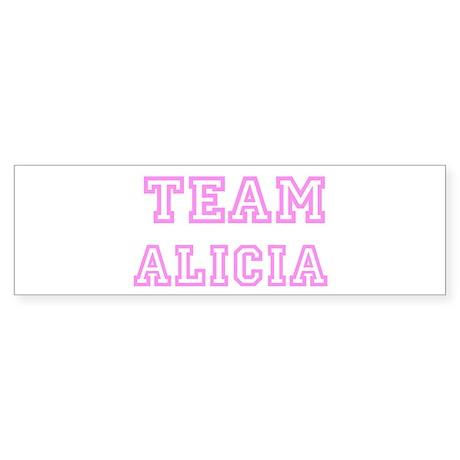 Pink team Alicia Bumper Sticker