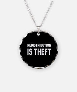Redistribution is theft dark button.png Necklace