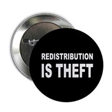 """Redistribution is theft dark button.png 2.25"""" Butt"""