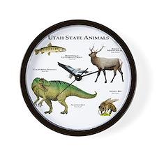 Utah State Animals Wall Clock