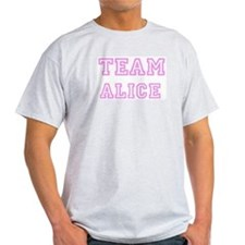 Pink team Alice Ash Grey T-Shirt
