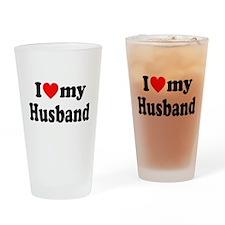 I Heart My Husband Drinking Glass