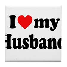 I Heart My Husband Tile Coaster