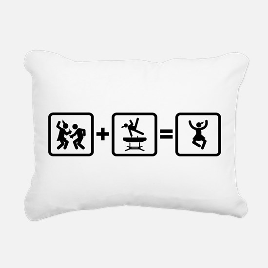 Gymnastic Pommel Horse Rectangular Canvas Pillow